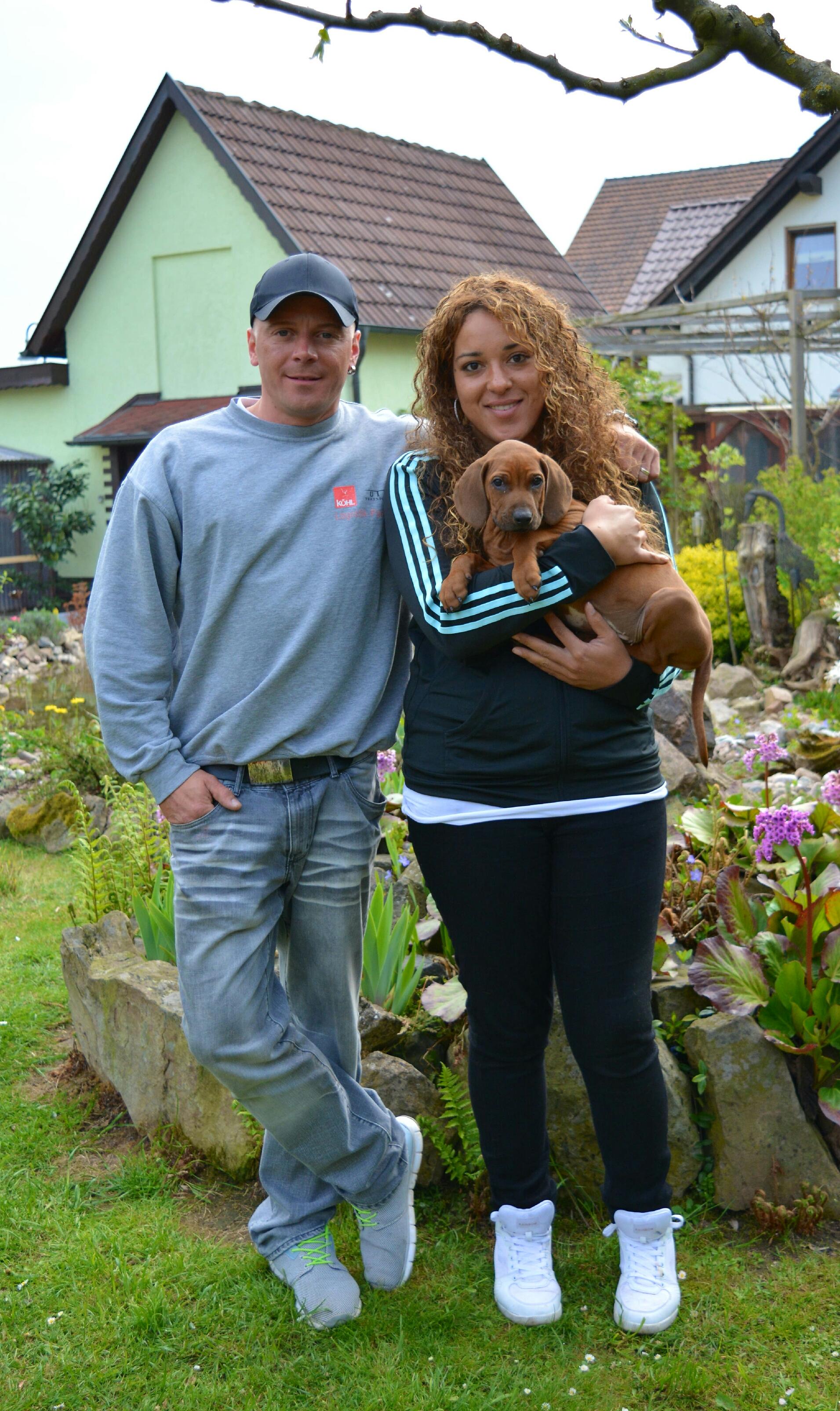 Tom und Katja mit Boma