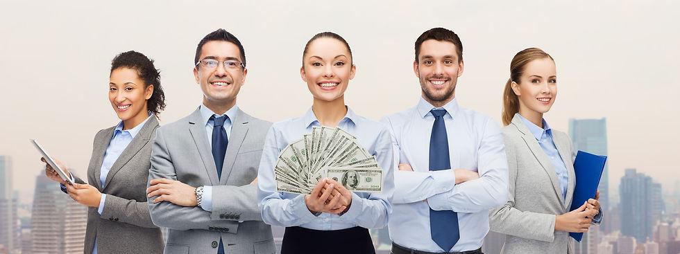 business, success and finances concept -