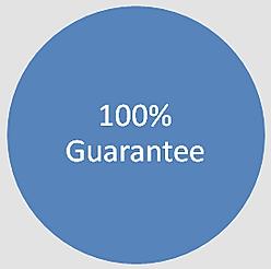 100 percent guarantee sale