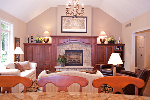 Fireplace and Mantle Wide