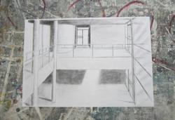 Koulun aula ylhäältä