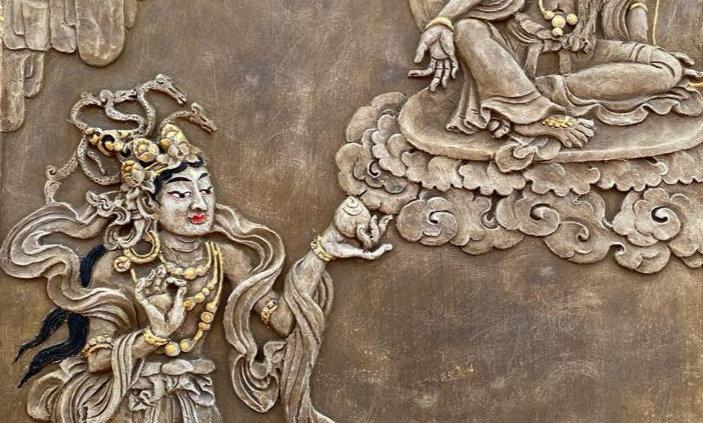 Avalokiteshvara & Naga Waruna Tile (no color)