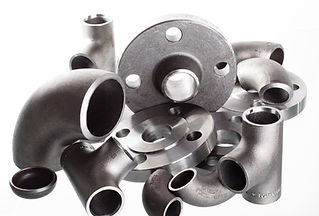 Steel welding fittings on group. Flanges