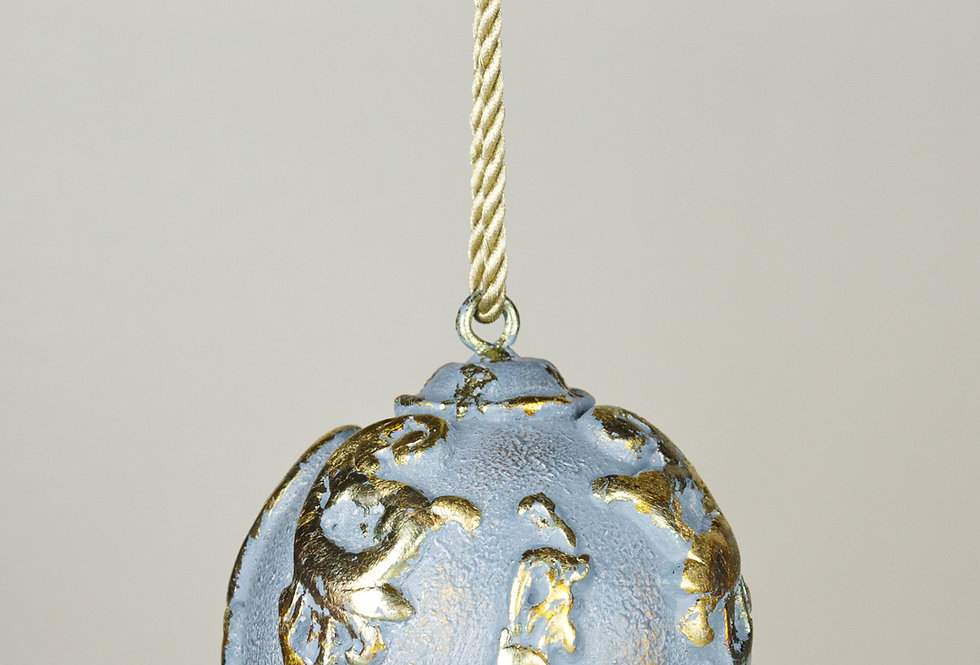 LARGE PATINA COVERED BAUBLE