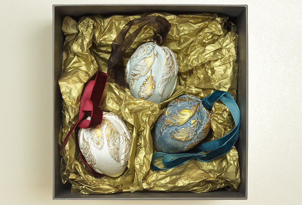 SET OF 3 CHRISTMAS EGGS