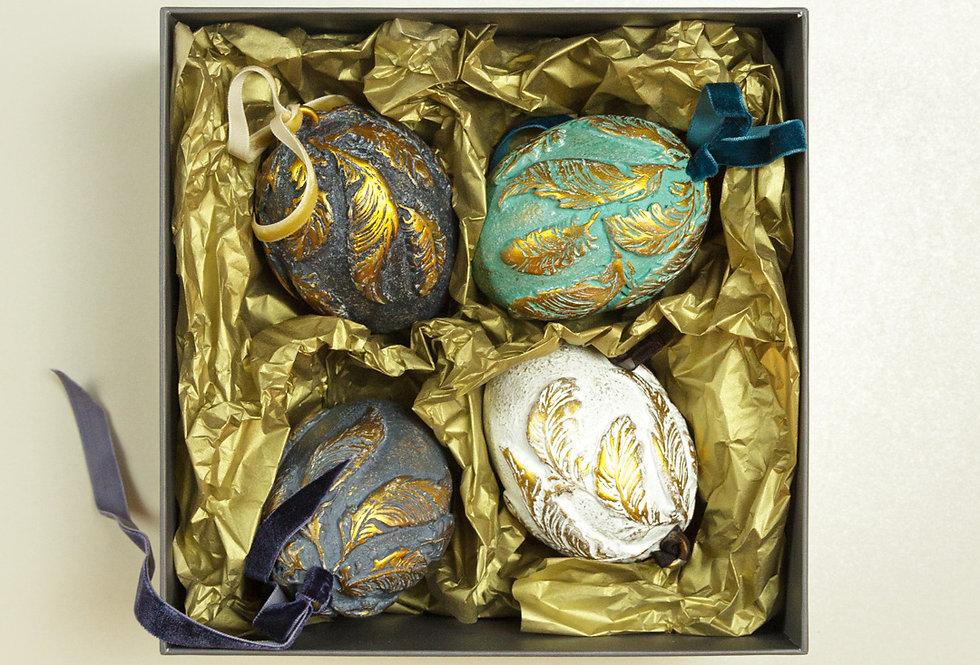 SET OF 4 CHRISTMAS EGGS