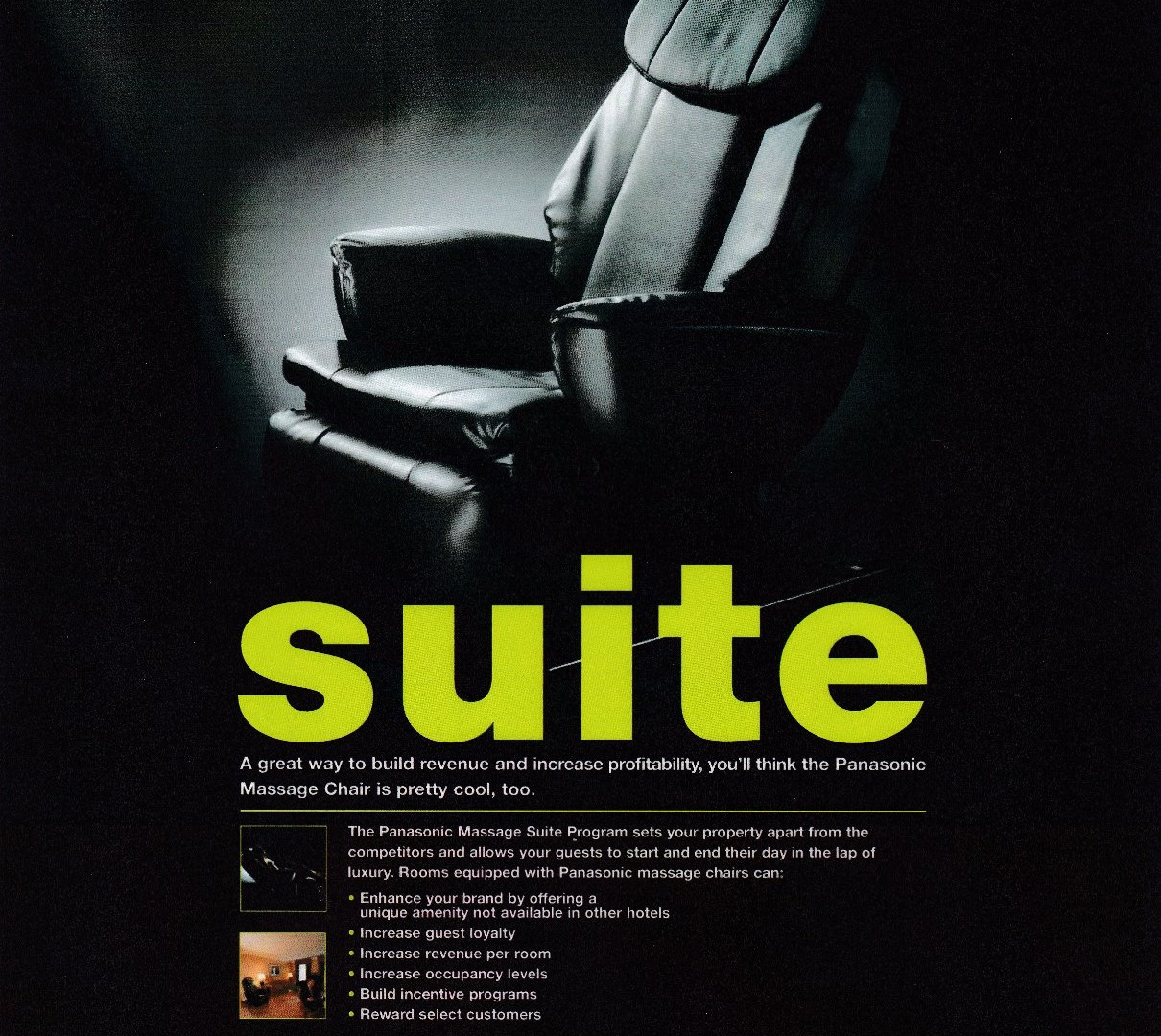 Panasonic Massage Chair Hotel promo