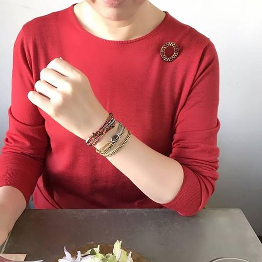 【Today's accessories】_サークルブローチ(ゴールド)インフィ