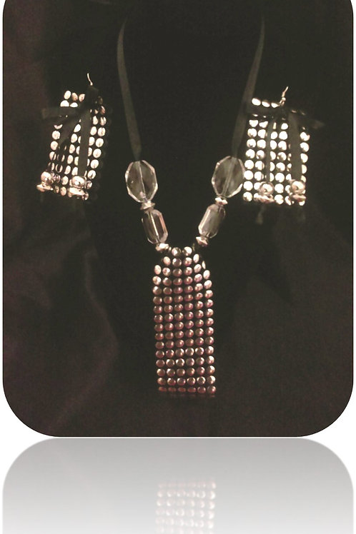 SOLD: Large Stud Pendant Necklace & Earrings