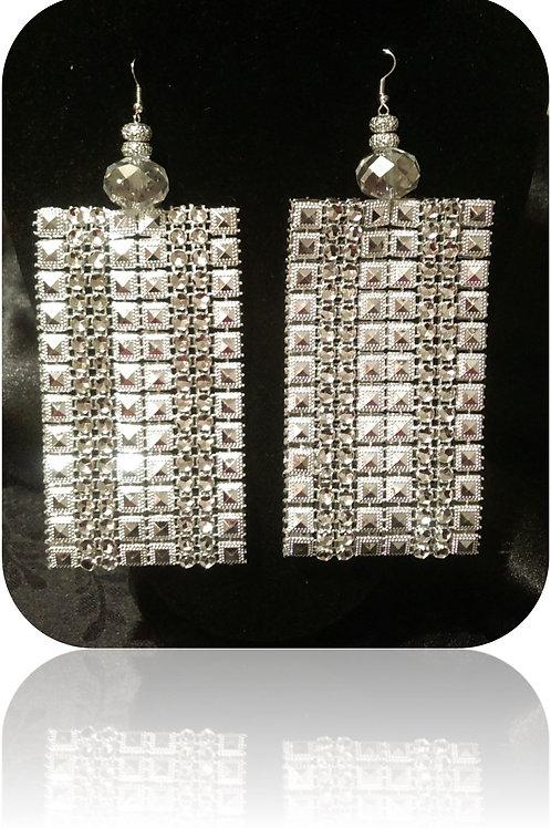 Oversize Rhinestone Earrings