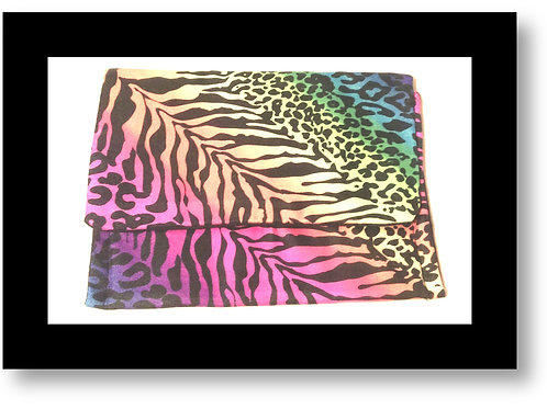 Colorful Tiger Print Clutch