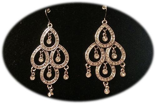 Shimmering Rhinestone Earrings