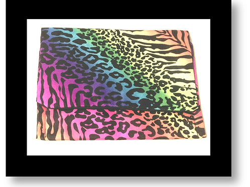 Colorful Tiger Print Clutch Two