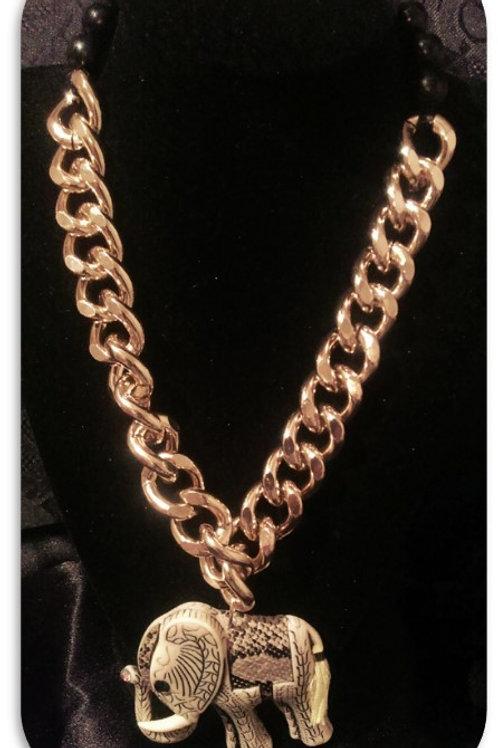 Elephant Pendant - Gold Link