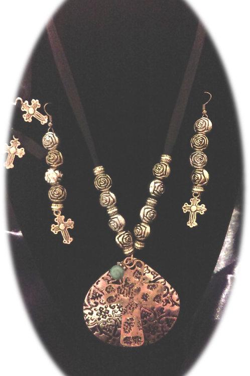 Cross Necklace Set