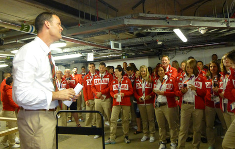 Speaking to Team Canada, London 2012