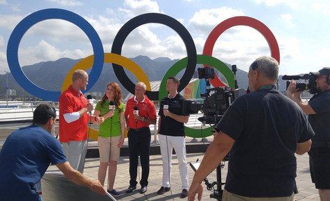 With CBC Sports broadcast team, Rio, 2016