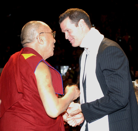 Mark was Master of Ceremonies, Dalai Lama's appearances in Ottawa, 2007