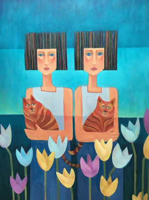 Twins in the Tulips