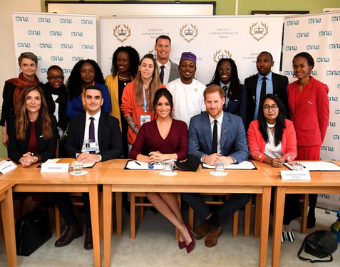 October 2019 at Windsor Castle - Mark co-moderated roundtable discussion with Duke and Duchess of Sussex with One Young World delegates.