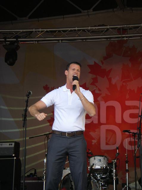 Canada Day festivities in London, Trafalgar Square, 2011