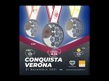 Le Arche Scaligere sulle medaglie degli eventi del 21 novembre 2021