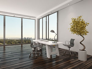 Modern home office interior design with