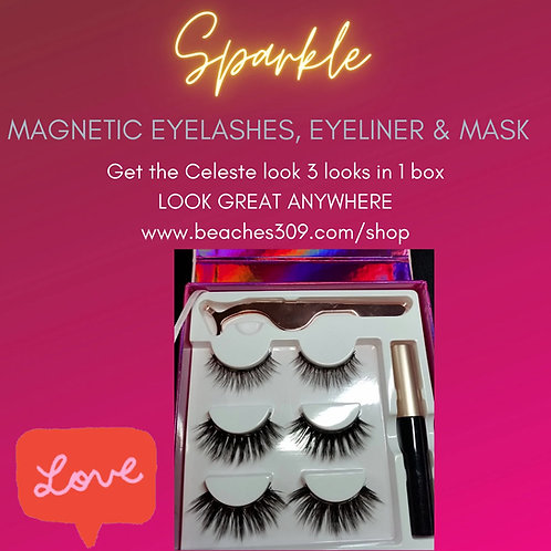 Magnetic Celeste Lashes & Eyeliner with Mask