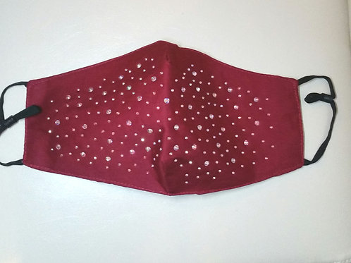 Ruby red sparkly mask
