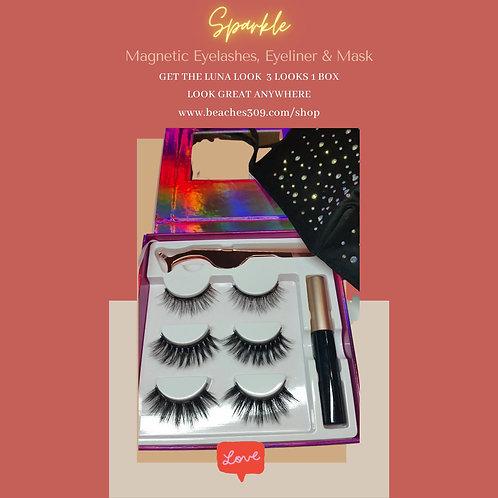 Magnetic Luna Lashes & Eyeliner with Mask