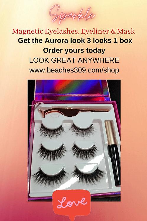 Magnetic Aurora Lashes & Eyeliner with Mask