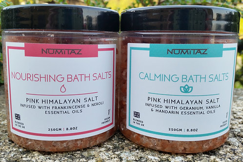 Himalayan essential oil bath salts nourishing