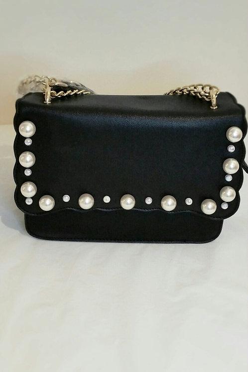 Pearl detail shoulder bag