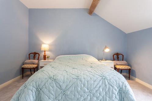 Blue back bedroom
