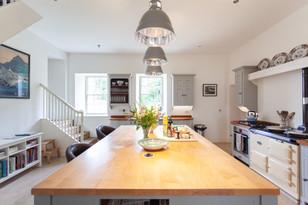 Kitchen island and Aga
