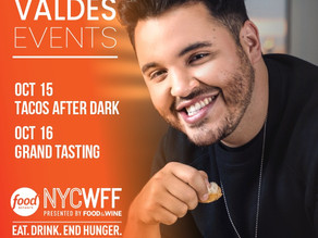 Chef Chris Valdes joins the 2021 Food Network New York Wine and Food Festival Oct 13 to 17th