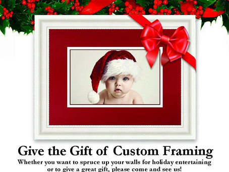We will be Custom Framing Right up Until Christmas Eve
