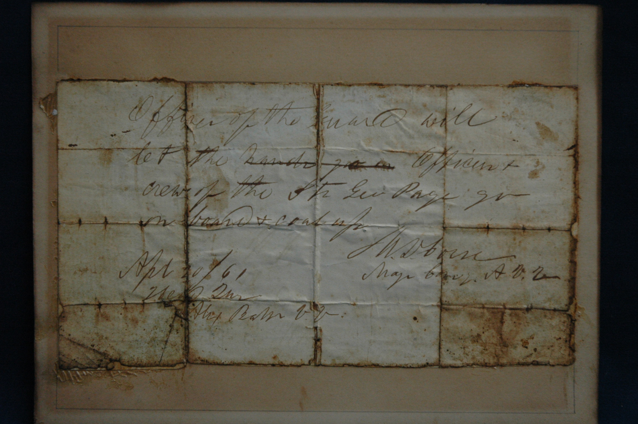 Before Restoration of Paper