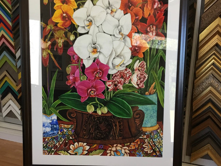 Check out our latest watercolor art custom framed here at Art Frame Solutions
