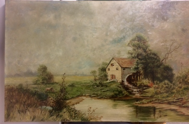 After Art Restoration Of Oil Painting