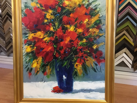 Spring is in the Air starting with this Fine Art Custom Framed here at Art Frame Solutions