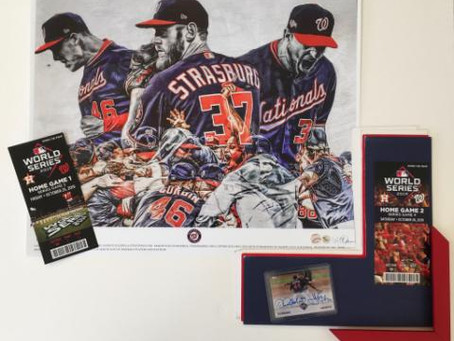 Time to get your World Series Memorabilia Custom Framed
