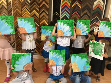 Art Birthday Parties for kids now open