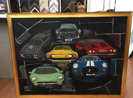 This week we custom framed Antique Cars