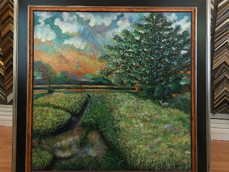 Check out our latest Custom Framing of Local Artist, Rodger Schultz Art