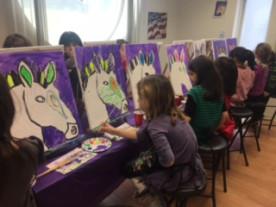 Zebra Art Parties for Kids