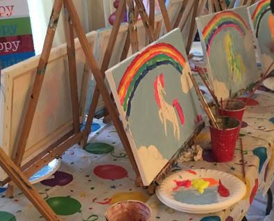Unicorn Art Parites for kids