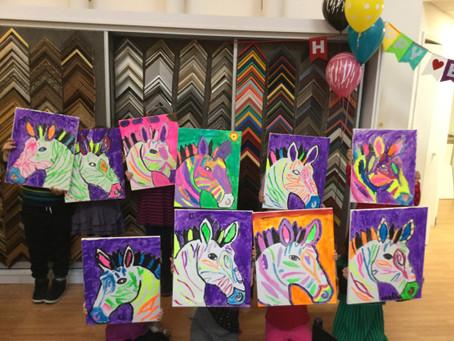 Hot Air Balloon and Animal Art Birthday Themes Available