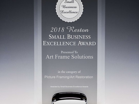 Art Frame Solutions selected for 2018 Reston Small Business Excellence Award