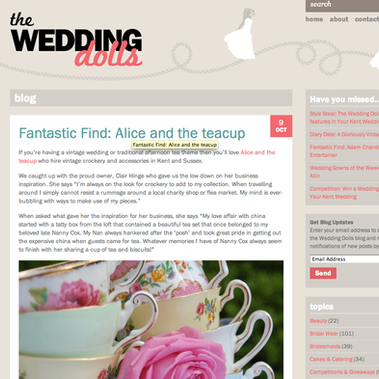 Featured on The Wedding Dolls Blog